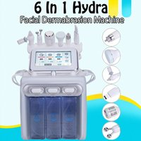 6in1 هيدرا تجميل الوجه آلة H2 O2 أكوا مائية هيدرو جلدي الأكسجين جيت قشر معدات العناية بالبشرة بالموجات فوق الصوتية بالموجات فوق الصوتية