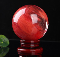 48--55 mm Red Crystal Ball Red Sculting Piedra Crystal Ball Ball Sphere Crystal Healing Crafts Home Doco Bbyymo Warmslove