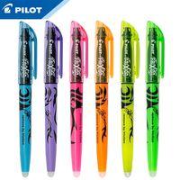 Pilot 6pcs / lot Thermal löschbare fluoreszierende Markierungsstift Set SW-FL-weiches Licht beschädigt nicht das Auge 201104