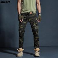 Camouflage de cargaison de camouflage de camouflage AKSR pour hommes Pantalons tactiques militaires Pantalons de pantalons Joggers Pantalon Pantalon Hommes 201118
