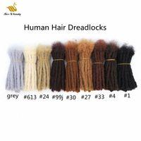 10pcs 인간의 머리 장식 크로 싱의 손으로 만든 hairxtensions 8-20inch 검은 갈색 금발 99J 회색 색상