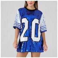 SG Mode Paillette Glänzende Hip Hop Kleid Sorority Bling Zeta Phi Beta Top Pailletten T Shirts Mantel Y200111