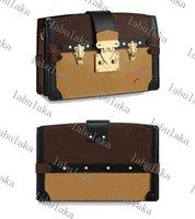 M43596 Handtasche Clutch Frauen Smooth Trim Lady Calf-Leder Designer Canvas Trunk Geldbörse Crossbody Abend Umhängetasche Bibht