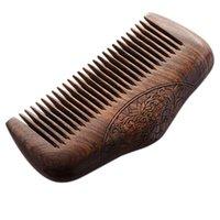 Haarbürsten Taschenkamm Sandelholz grün Natürliche super schmale dent holz kämme static lice bart frisur