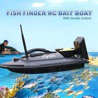 Flytec 2011-5 ferramenta inteligente rc isca isca brinquedo duplo motorizador de motor de peixes controle remoto barco de pesca barco t200721