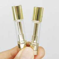 Gold Vape Carts Empty Vape Pen Cartridges 0. 8ml 510 Thread T...