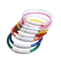 USB Ladung Haustiere Hundekragen LED Outdoor Leuchtende Sicherheit Haustier Hund Halsbänder Licht Einstellbare LED blinkende Welpenkragen Pet Supplies IIA833