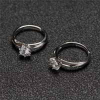SilverRainbow Brand 2021 New Trend Zircon Engagement Ring Fo...