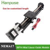 Mini V Линейный привод Линейный модуль HPV4 300 мм с шаговым двигателем NEMA17 17HS3401 28N.CM 1.3A 34 мм для 3D принтера