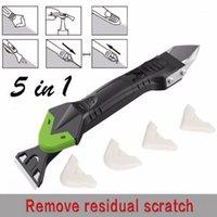 Squeegees Creative Creative 5in1 Remover de silicone Caulk Finisseur de Caulk Scellant Slast Slight Slight Grout Kit Outils En plastique Main Set Accessoires # 0071