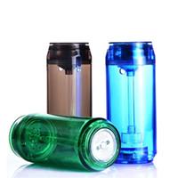 2020 Nova Iluminação LED Cóia de Hookah Viagem Portátil Plástico de Cachimbo de Cachorro Levou Cóia De Hookah SHISHA Set para carro fumar garrafa portátil