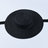 USPOP summer hats women sun french style wide brim casual natural wheat straw lace-up beach hat shade 201015