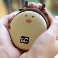 Portátil USB mano caliente de la energía del banco 10000mAh electrónico recargable mini moda de invierno el Powerbank inteligente de calefacción calentador de la mano VT1874