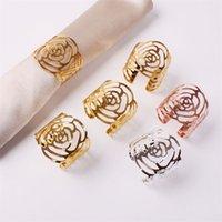 Свадебные кольца салфетки металлолтовые держатели салфетки для ужинов на вечеринке отель свадебный стол украшения поставки салфетки пряжки 100 шт. T1i3433 51 G2