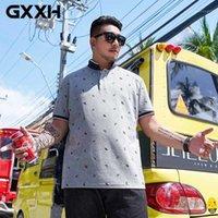 Camicia da uomo Polos GXXH 2021 Shirt Plus Size Moda uomo Summer Manica corta Camicie 6xL 7xL Stampato Top sovradimensionato