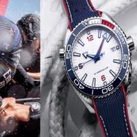 Erkekler Seramik Çerçeve Mens Otomatik Hareketi Saatler 36th Dünyanın Kupası Orolojisi En Eski Skyfall JMAES Bond 007 Kauçuk 600m Lüksİzle Montre de Luxe Saatı