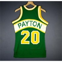 121 Gençlik Kadın Vintage Gary Payton Mitchell Ness 94 95 Koleji Basketbol Jersey Boyutu S-4XL veya Özel Herhangi Bir Ad veya Numara Forması