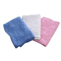 22 colores mantas para bebés Manta de bordado de algodón 90 * 115cm Ruffle Baby Quilt Infantil Recién nacidos Mantas CYZ2854 50pcs