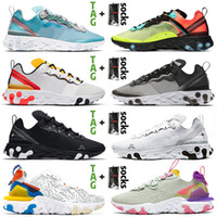 Vente chaude 2020 Vision STOCK X 55 Hommes Femmes Courant Chaussures Royal Tint Olt Racer Rose Anthracite Blanc Baskers Schékers