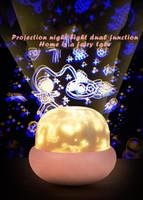 Mantar Lambası Projektör Küçük Gece Lambası Kız INS Ayarlanabilir Faiz Atmosfer Yatak Odası Bir Yatak Başı Yaratıcı Dönen Star Small L