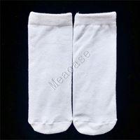Sublimation weiße Socken Thermische Übertragung Ebene leere doppelseitige bedruckte Strümpfe 15 cm 20 cm 24 cm 30 cm 40 cm für frauen männer socken f102305