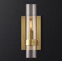 Modern Ouro Luxurious Sombra luzes parede de vidro / Lâmpadas de parede preta para cabeceira quarto Sala restaurante luminárias LED Sconces