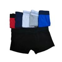 Mens nuevo del estilo de la ropa interior de los hombres de las bragas de los calzoncillos para hombre Hombre Boxer ropa interior de algodón transpirable Big Man corto Solid Shorts boxeadores flexibles