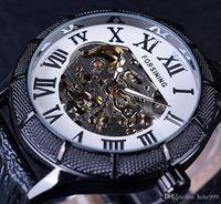 2020 Neue Heiße Pfeife Skelettuhr Transparente Römische Nummer Uhren Männer Luxus Mechanische Männer Big Face Watch Steampunk Armbanduhren