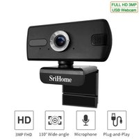 Sricam SH039 HD 3MP USB Webcam PC Desktop Laptop Video Camer...