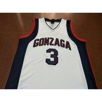 Пользовательские 604 молодежные женщины редкие Gonzaga бульдоги # 3 Adam Morrison College Basketball Jersey Size S-4XL или пользовательское какое-либо имя или номер Джерси