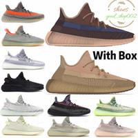 Kanye West Véritable Synthé Lundmark Noir Static Réfléchissant Hommes Designer Chaussures De Course Gid Glow Clay Hyperspace Zebra femmes formateurs Sneaker