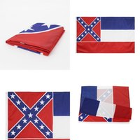 EE.UU. Mississippi Banner Impresión de la impresión Estrellas de la raya de la bandera de la bandera de la fibra de poliéster de la fibra de la fibra de la fibra de la perforación Durable Durable Garden 6 5yhb C2