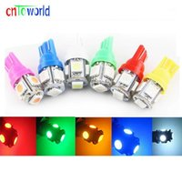 Acil Durum Işıkları 100 ADET Araba LED 12 V 24 V T10 W5W 5 SMD 5SMD Kamyon Gümrükleme Işık Göstergesi Okuma Lambaları Beyaz Kırmızı Buz Mavi Yeşil Yellow1