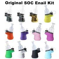 G9 originale SOC authentique 100% E Nail Kit Greenlightvapeas Temp contrôle cire Container huile ENail sec Vaporizer 2800mAh verre d'eau Dab Rig
