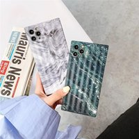 Fashion Marble Pattern Square Couple Case For iphone 11 Pro Max X XS MAX XR SE2 8 7 6 6S Plus SE2 Marble Texture Cases Cover