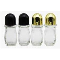 30ML 50ML زجاج واضح الزجاج الأسطوانة الزيوت الزجاجية مع الكرة الأسطوانة الزجاجية للعطور الروائح لفة على زجاجة