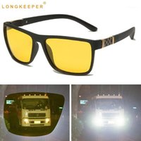 Lunettes de soleil Longsickeeweper Vision de la nuit Polarisée Polarisée Hommes TR90 Jaune Lens Jaune Sun Homme Anti-reflet Voiture Driving Goggles Gafas De1