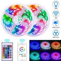 Vente chaude Télécommande 12V-5050 RGB Wifi 10 mètres 24 Clés 300 lumières (40W) Lumière bande double disque d'éclairage flexible