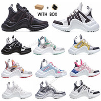 2021 New Fashion Casual Block Arcight Genuine Pelle Pelle Dad Sneakers Scarpe Scarpe Mesh Nero Black Browers Platform Platform Popular Stylis Scarpe # 52