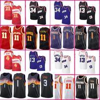 1 Booker Jersey Devin Basketball Chris 3 Paul Jerseys Trae 11 Young Charles 34 Barkley Steve Spud Nash Webb Men De'Artre 12 Hunter