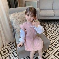 Outono huzhou zhili crianças meninas 'desgaste patchwork auricular suéter mulheres tricô drs q1hj