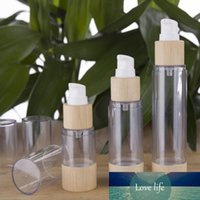 New Bamboo Kosmetik Verpackung Flasche 20ml 30ml 50ml 80ml 100ml 120ml leeren Airless-Vakuumpumpe Flaschen für Make-up Creme Serum Lotion Haut Ca