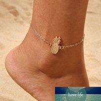 العصرية لطيف الجوف خارج الأناناس الساق سلسلة القدم والمجوهرات الإناث جديد أزياء سبائك الفاكهة الخلخال أساور للنساء حزب بيجو