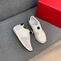 2021 Men's Casual Coureurs Marque Designers Sneakers Mode Smart Platform Entraîneurs Chaussures en cuir Véritable Taille 38-45