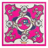 Mujeres Cabello Bufanda Seda Mujeres Carro Mujer Satin Foald Luxe Small Damas Cuello Bufandas 60 * 60 cm