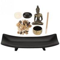 1 Set Zen Zen Garden Relax Budizm Şamdan Tütsü Tutucu Mefruşat ürünleri Tütsü Burner Ev Dekorasyon Hediye için T200319