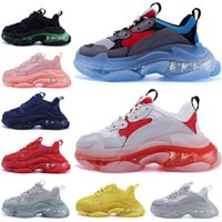 chaussures scarpe rubber zapatos sock zapatilla dad triple s baskets femmes hommes balenciaga balenciaca balanciaga clear sole 17FW sneakers men women shoes