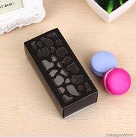 U Valentine Cupcake Container Hollow Cioccolato Casella di nozze Pacchetto Pacchetto Macaron Imballaggio Carta Cake Boxes 4 * 6 * 13 cm 3U