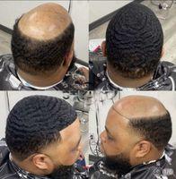 Afroamerikaner Afro Toupee Full Spitze Einheit Herren Perücke Indische Jungfrau Human Hair Ersatz für Black Man Fast Express Lieferung