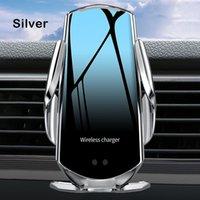 Q6 Araba Kablosuz Şarj Tutucu Otomatik Sensör Kablosuz Şarj Telefon Araba Tutucu Mobil Standı Hızlı Şarj Hava Firar Dağı iPhone Samsung Için
